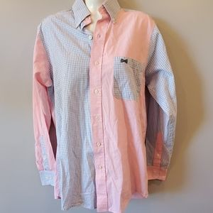 Fraternity Collection Pink/Blue Button Down